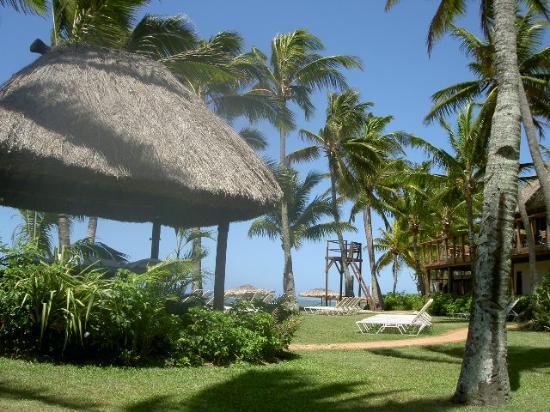 Outrigger Fiji Beach Resort: sunbathe near the beach - away from the kids!