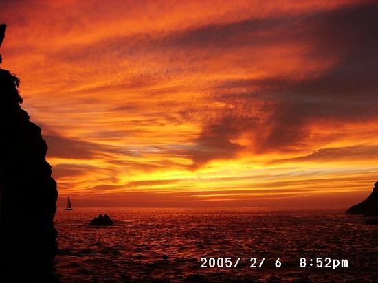 El Mirador Acapulco Hotel: sunset