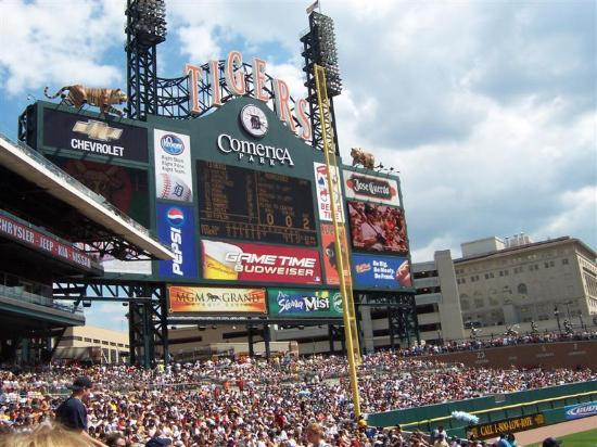 Photo of Tourist Attraction Comerica Park at 2100 Woodward Ave, Detroit, MI 48201, United States