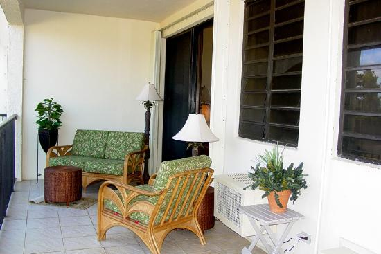 Pelican Cove Condos: Pelican Cove - Patio with Ocean View