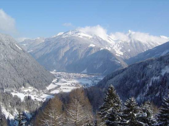 View From Hotel Looking Down On Village Of Mayrhofen Picture Of