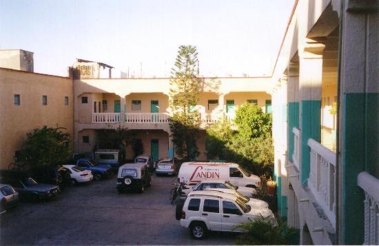 Hotel Lerma: gated parking lot