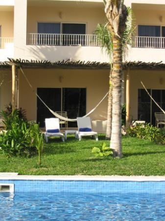 "Excellence Riviera Cancun : ""swim out"" room- good access to the pool but little privacy- this photo was taken from my..."
