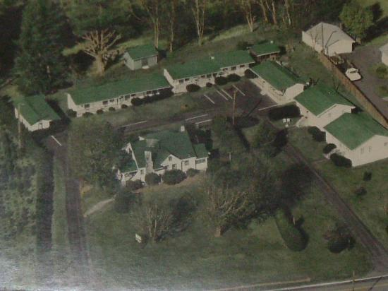 Huskins Court and Cottages: What it looks like from the air