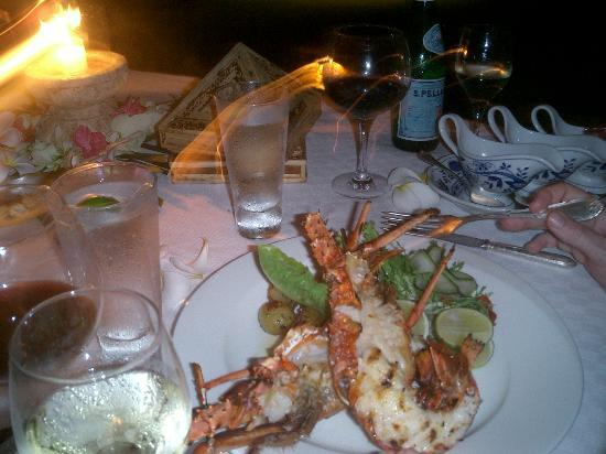 The Oberoi, Lombok: Special lobster for birthday dinner