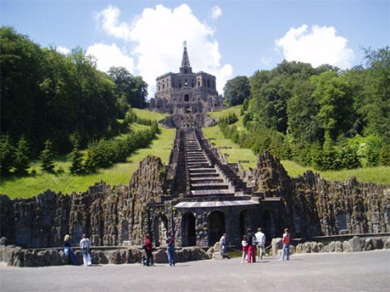 Kassel, Germany: Hercules before the cascade