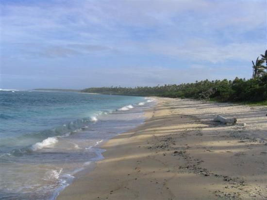 Ha'apai Resort at Billy's Place: Beach at Billy's Place, looking south