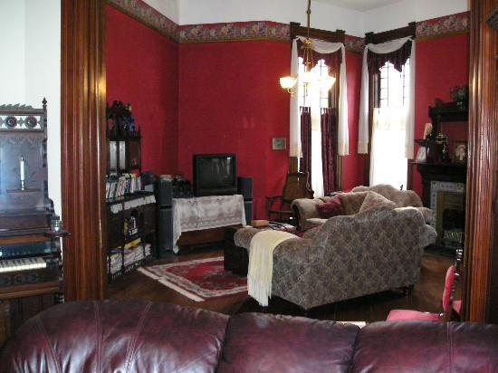 1884 Wildwood Bed and Breakfast Inn: standing in gentlemans parlor looking into Ladies