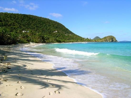 Tortola: View Looking West. The water is like bathwater.