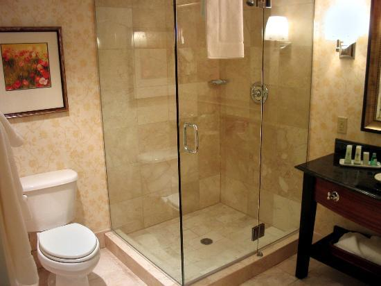 Bathroom toilet and glass enclosed shower - Picture of JW Marriott ...