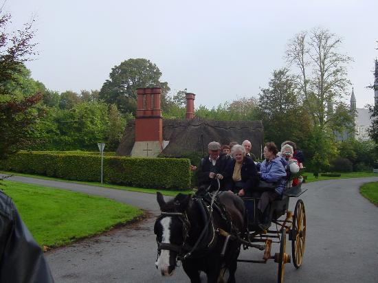 Allingham Arms Hotel: ON A JAUNTING CART!!
