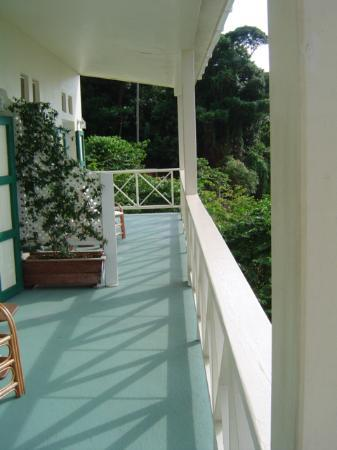 The wonderful, relaxing porch at Beau Rive!