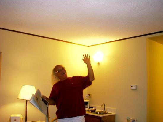 Yosemite Inn: mark having fun in the motel