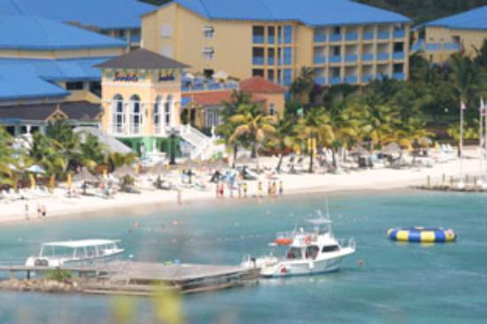 Sandals Grande St. Lucian Spa & Beach Resort: Sandals Grande from Fort Rodney