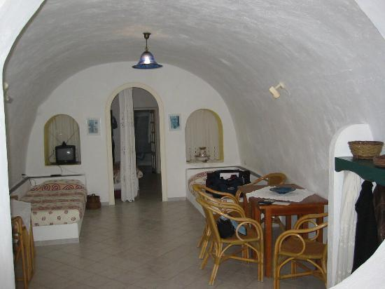 Uranos Traditional Houses: The front bedroom / living area