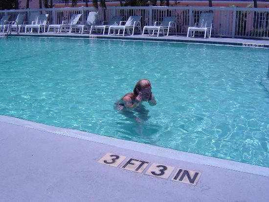 The pool at the Blue Marlin Motel