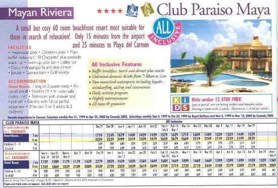 Club Paraiso Maya: Brochure
