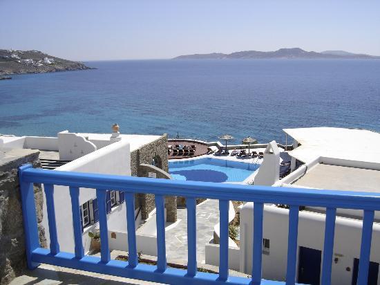 Mykonos Grand Hotel & Resort: View from Balcony