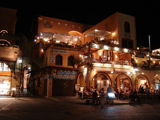 Sheraton Rhodes Resort : Nightime in Old Town Rhodes (10 minute cab ride)