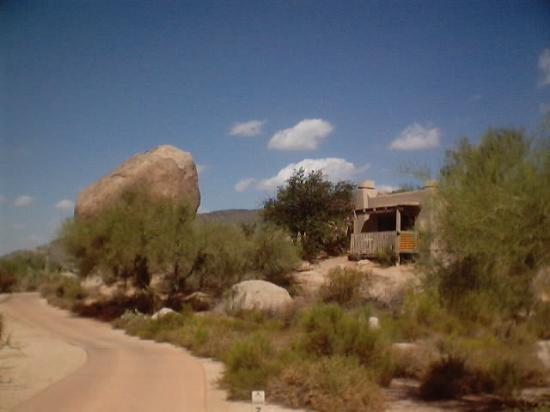 Boulders Resort & Spa, Curio Collection by Hilton: A castia along the golf cart path