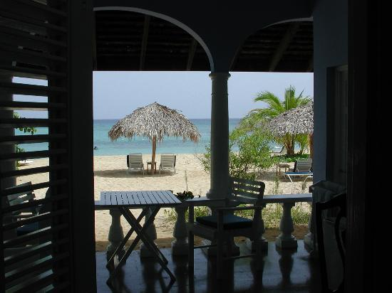 Jamaica Inn: the view from our beachfront room
