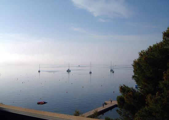 Hotel Illa d'Or : A hazy morning view out to sea from a sea-facing room