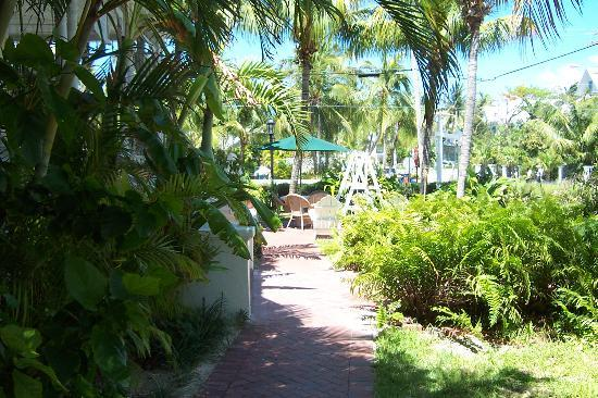 Southernmost Point Guest House : Along side the house