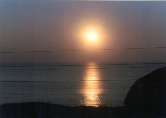 Cliff House Hotel : Ballybunion sunset from hotel window