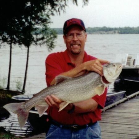 Red Indian Lodge: Dan with a Big Catch