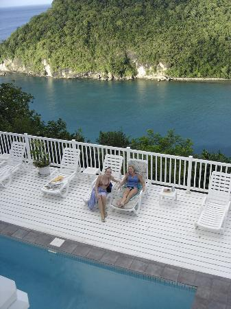 The Inn On The Bay: Enjoying the pool and the view.