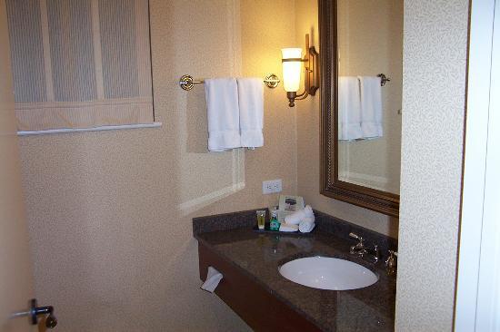 Sink & (1) of (2) Bathroom Windows