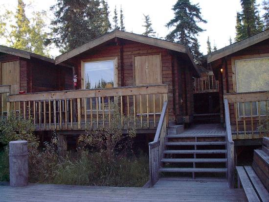 The Cabins at Denali Park Village: Riverfront cabins