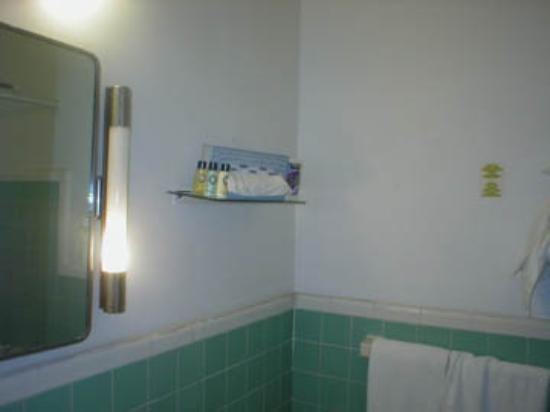 Cadet Hotel: precarious toiletries tray