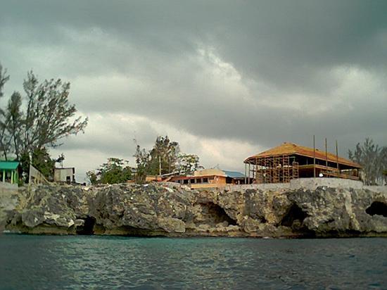Negril, Jamaica: Rick's cafe under construction