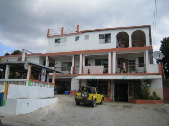The Vieques Guesthouse: Casa Alta Vista and our rental jeep