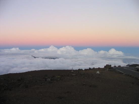Haleakala Crater: Looking East during sunset on Haleakala