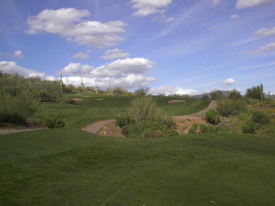 Cave Creek, AZ: Looking up to green on hole #4