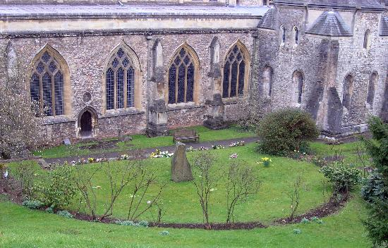 Cardiff, UK : Llandaff Cathedral and Memorial Area