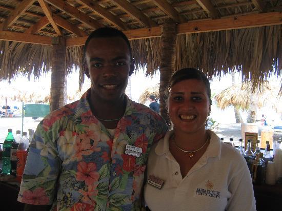 Grand Bahía Principe San Juan: Antonio and Cevrys bartenders at club golden