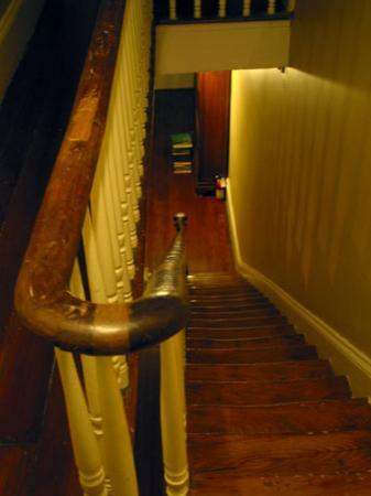 McKendrick - Breaux House: staircase to room