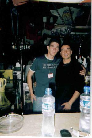 Magnific Hotel : Erdinc and Deniz working in the Bar.
