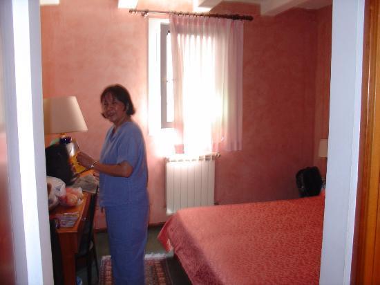 Doge Hotel : Bright colored wallpaper