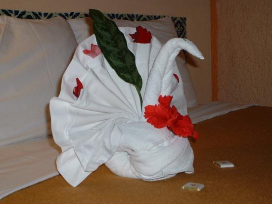Iberostar Tucan Hotel : Sample of towel art in our room