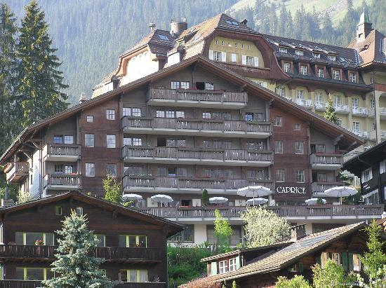 Hotel Caprice: view of caprice from walking trail below