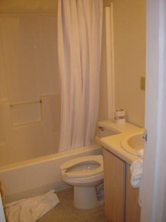 New Orleans/Harvey Extended Stay Hotel: Tiny disgusting bathroom