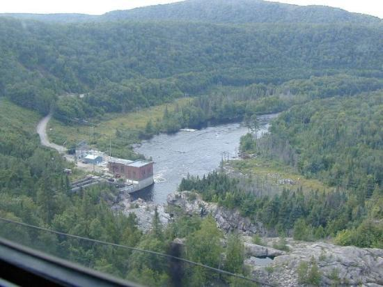 Agawa Canyon Tour Train: Looking west from the Montreal River trestle.