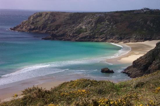Cove Cottage: Porthcurno taken from coastal footpath