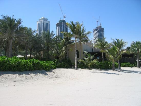 The Palace at One&Only Royal Mirage Dubai: View from the beach to the development occuring behind the resort