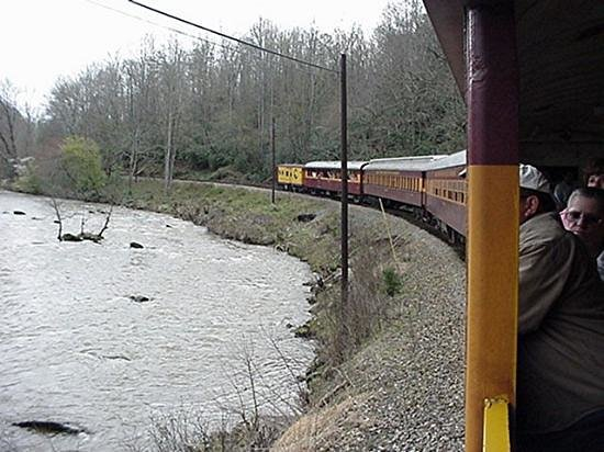 Great Smoky Mountains Railroad: Rounding A Bend In The River