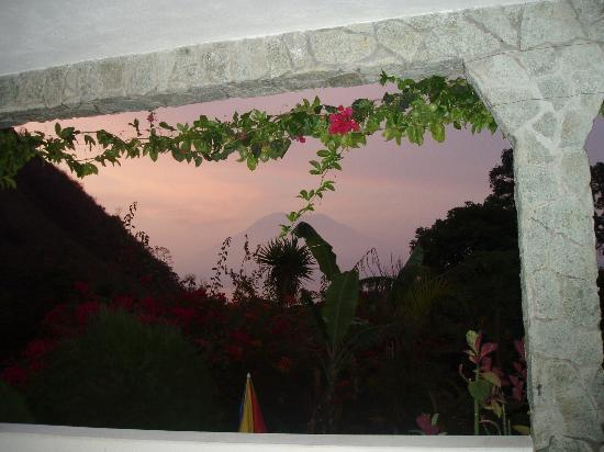 Sunset from our room in Vulcano Lodge